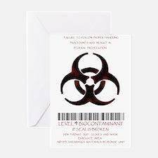 contaminent Greeting Card