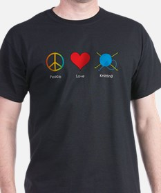 peace_love_knitting T-Shirt