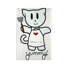 Cooking Kitty Rectangle Magnet