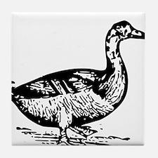 Duck Sketch Tile Coaster