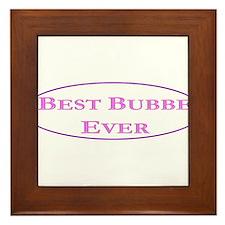 Best Bubbe Ever (Best Grandma in Yiddish) Framed T