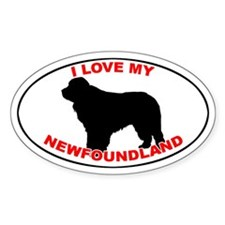 Newfoundland Oval Decal