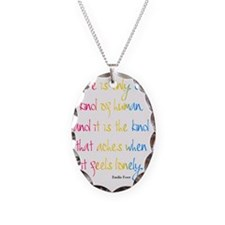 One Kind of Human Quote Necklace Oval Charm