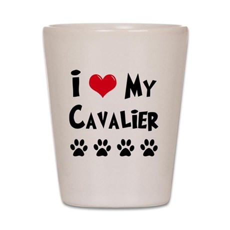 I-Love-My-Cavalier Shot Glass