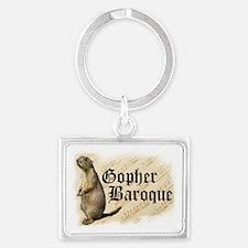 Gopher Baroque Landscape Keychain