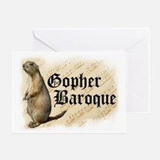 Gopher Baroque Greeting Card