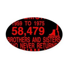 InMemory58479Red Oval Car Magnet