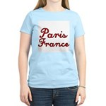 Paris France Women's Pink T-Shirt