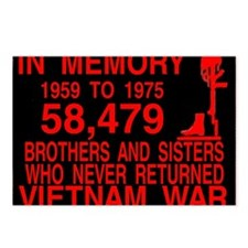 InMemory58479Red Postcards (Package of 8)