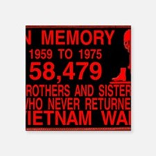 "InMemory58479Red Square Sticker 3"" x 3"""