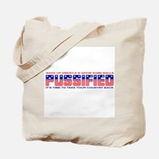 Pussified America Tote Bag