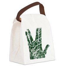 vulcan-salute2-vintage_tr Canvas Lunch Bag