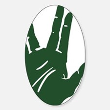 vulcan-salute2_tr Sticker (Oval)