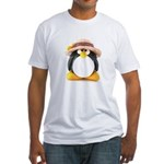 Sunflower Hat Clay Penguin Fitted T-Shirt