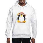 Sunflower Hat Clay Penguin Hooded Sweatshirt