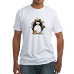 Gardening Penguin Fitted T-Shirt