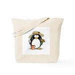 Gardening Penguin Tote Bag
