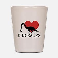 I Love Dinosaurs Shot Glass