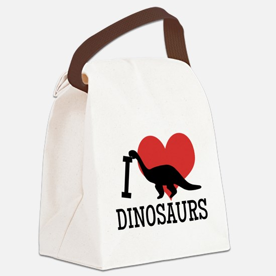 I Love Dinosaurs Canvas Lunch Bag