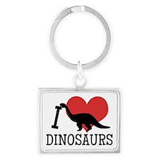 I Love Dinosaurs Keychains