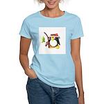 Clay Fishing Penguin Women's Pink T-Shirt