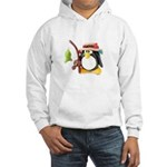Clay Fishing Penguin Hooded Sweatshirt