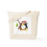 Clay Fishing Penguin Tote Bag