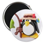 Clay Fishing Penguin Magnet