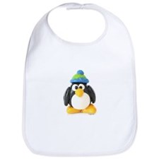 Clay Green Beanie Penguin Bib
