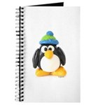 Clay Green Beanie Penguin Journal