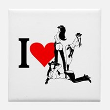 I heart Cowgirls Tile Coaster