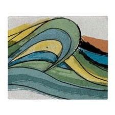 wave_square Throw Blanket