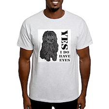 Puli : Yes I Do Have Eyes Ash Grey T-Shirt