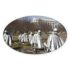 Korean War Memorial Oval Decal