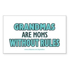 Moms Without Rules Rectangle Decal