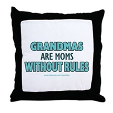 Moms Without Rules Throw Pillow