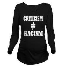 black shirt criticis Long Sleeve Maternity T-Shirt