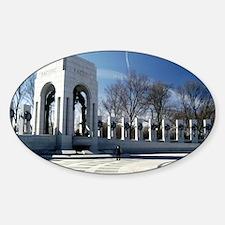World War II Memorial Oval Decal