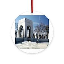 World War II Memorial Ornament (Round)