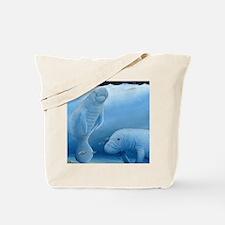 manatee haven square Tote Bag
