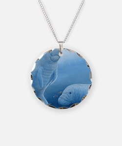 manatee haven square Necklace