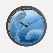 manatee haven square Wall Clock
