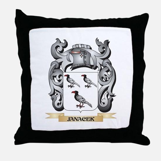 Janacek Coat of Arms - Family Crest Throw Pillow