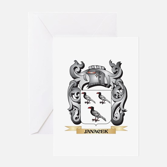 Janacek Coat of Arms - Family Crest Greeting Cards