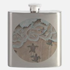 Race To The Sea round Flask