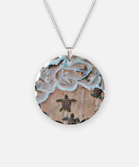Race To The Sea round Necklace