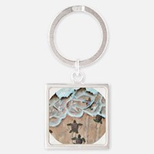 Race To The Sea round Square Keychain