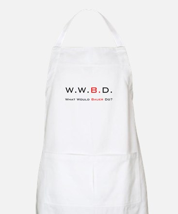 White with Black/Red BBQ Apron