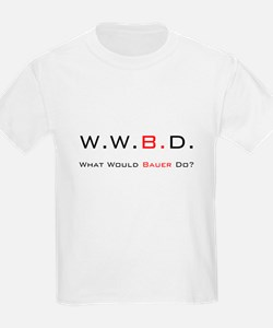 White with Black/Red Kids T-Shirt