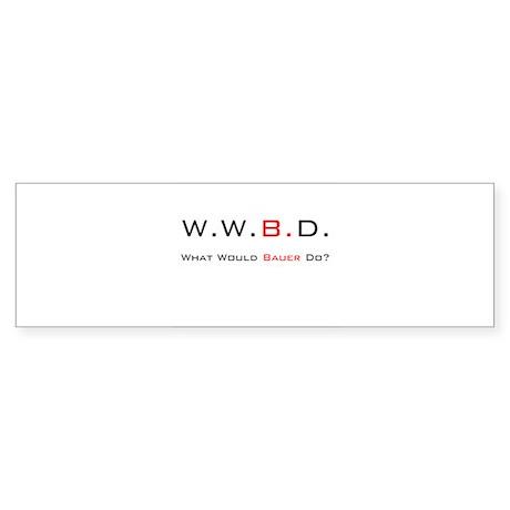 White with Black/Red Bumper Sticker